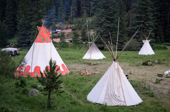 Tipis in the Main Meadow 2015