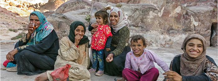 Petra Bedouin family
